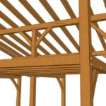 24x24 Shed Roof Plan with Loft Joinery Closeup