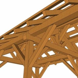 12x24 Post and Beam Pavilion Detail