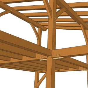 24x24 Shed Roof Plan with Loft Detail