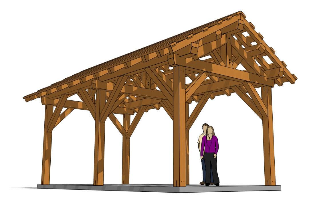Beam Pavilion Timber Frame Hq, Outdoor Pavilion Plans