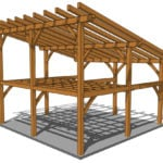 24x24 Shed Roof Plan with Loft