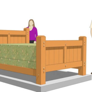 Queen Size Timber Frame Bed Plan (42073)-with Models