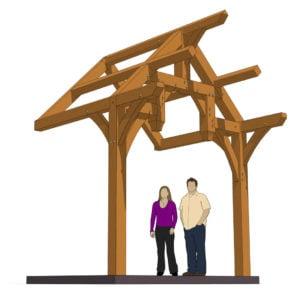 10x8 Hammer Beam Entry Porch Plan (41890) Eye Level