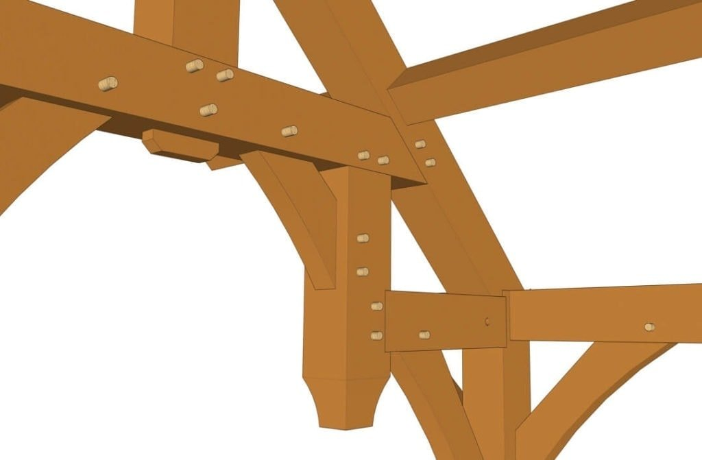 10x8 Hammer Beam Entry Porch Plan (41890) Hammer Truss