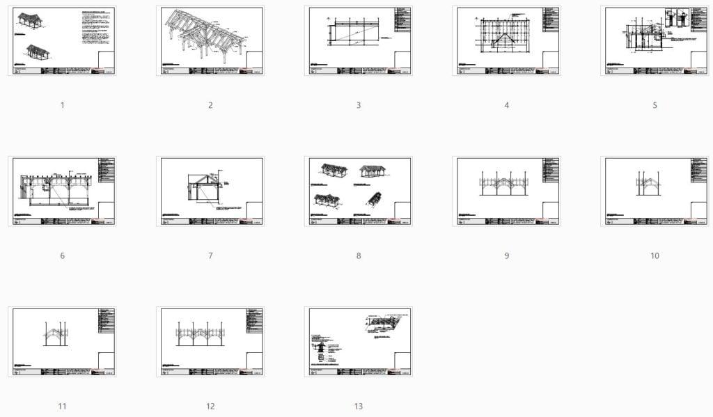 3 Gable Pavilion (42674) Plan Overview