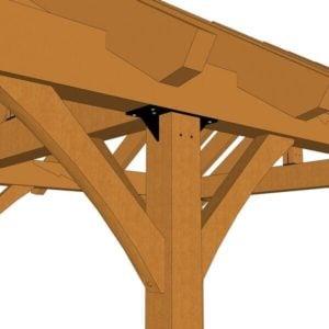 3 Gable Pavilion Plan (42674) Detail