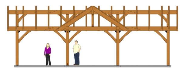 3 Gable Pavilion Plan (42674) Elevation