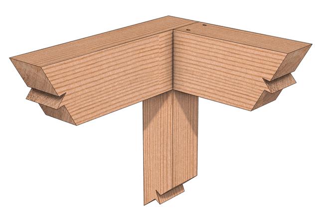 Cross Lap Corner Joint Interior Joined