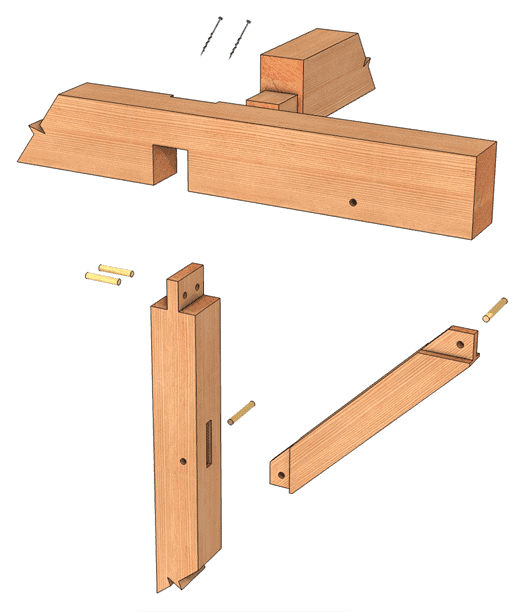 Cross Lap Joint Exploded Exterior