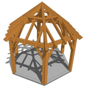 Hexagonal Gazebo Plan (42708) 3D