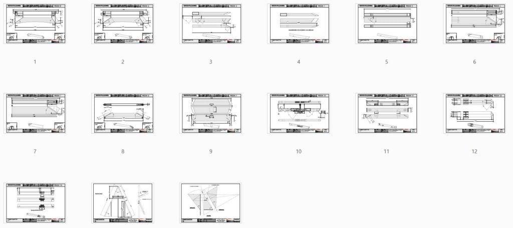Hexagonal Gazebo Plans (42708) Piece Overview