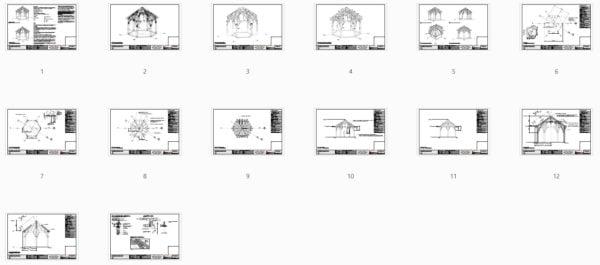 Hexagonal Gazebo Plans (42708) Plan Overview