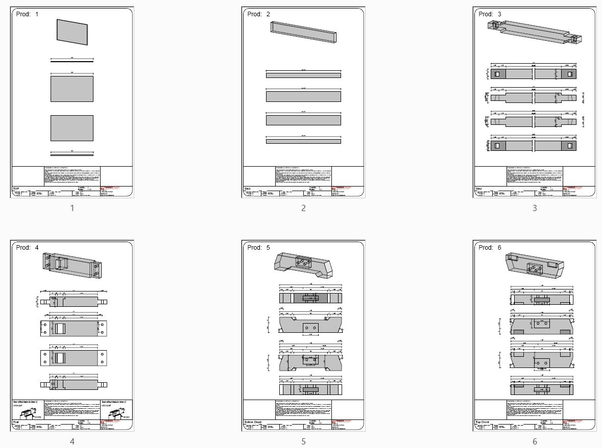 Dining Room Table Plan (42074) - Piece Overview