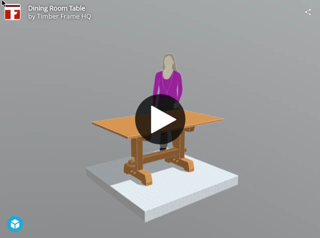 Heavy Timber Dining Room Table Interactive 3d Image
