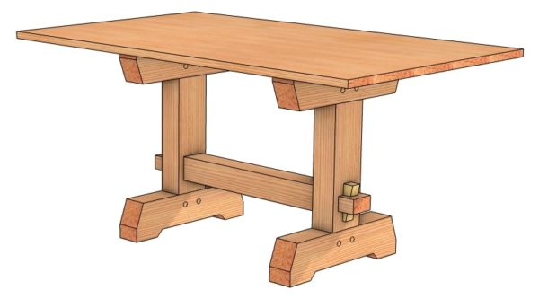 Timber Frame Dining Room Table Plan
